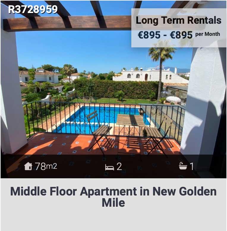 middle floor apartment in benehavis